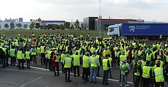 "Yellow - ""Yellow vests"" protest in France, November 2018"