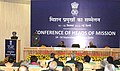Manmohan Singh addressing the Conference of the Heads of Mission, in New Delhi on September 14, 2012. The Union Minister for External Affairs, Shri S.M. Krishna and the Foreign Secretary, Shri Ranjan Mathai are also seen.jpg