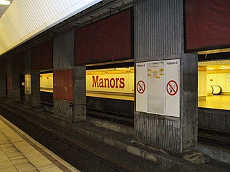 Manors Metro station - Image: Manors Metro station