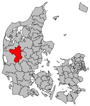 Herning Municipality - Image: Map DK Herning