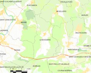 La Boissière, Hérault - Map