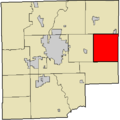 Map highlighting Clifty Township, Bartholomew County, Indiana.png