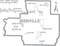 Map of Bienville Parish Louisiana With Municipal Labels.PNG