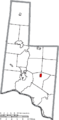 Map of Brown County Ohio Highlighting Russellville Village.png