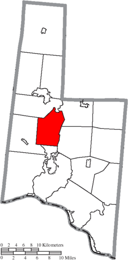 Location of Scott Township in Brown County
