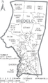 Map of Iredell County North Carolina With Municipal and Township Labels.PNG