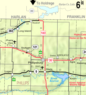 Phillips County, Kansas - Image: Map of Phillips Co, Ks, USA