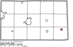 Location of Attica in Seneca County
