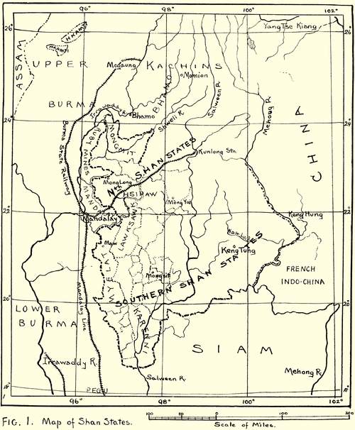 Fig. 1. Map of Shan States.