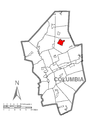 Map of Stillwater, Columbia County, Pennsylvania Highlighted.png