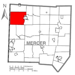 Location of West Salem Township in Mercer County