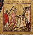 Margaritone d'arezzo, madonna col bambino in trono e scene religiose, 1263-64 ca. 09 san nicola salva innocenti condannati a morte.jpg
