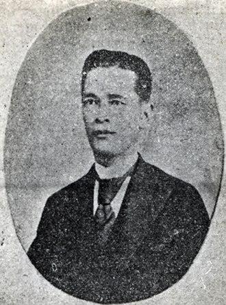 Mariano Llanera - Llanera in 1899.