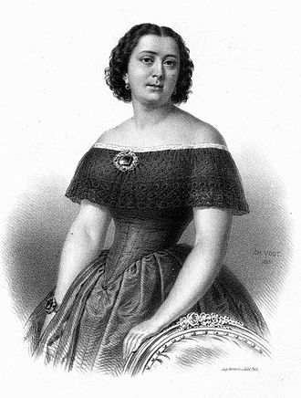 Marietta Alboni - by Charles Vogt, 1855