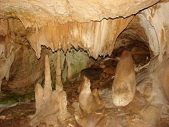 Marble Cave (Crimea) - A view inside the cave