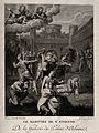 Martyrdom of Saint Stephen. Engraving by Gareau after Anniba Wellcome V0033017.jpg