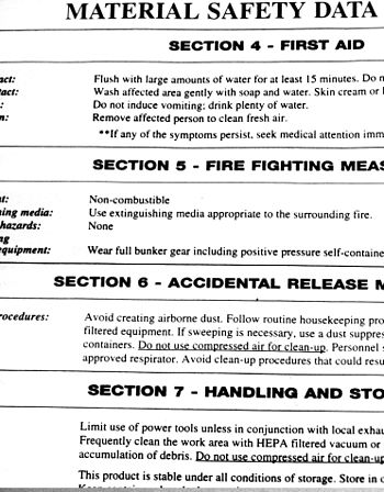 An example Material safety data sheet (MSDS), ...