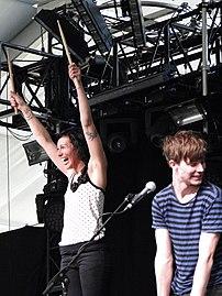 Kim Schifino and Matt Johnson at the 2010 Coachella Festival