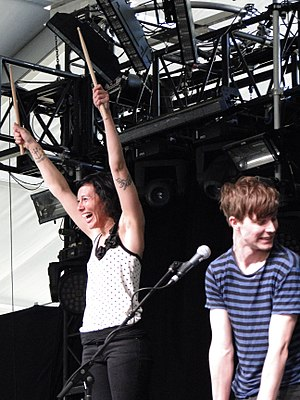Matt and Kim - Matt and Kim performing at Coachella in 2010.