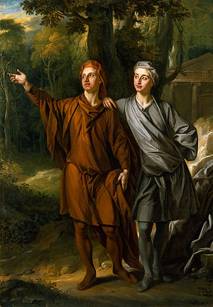 Anthony Ashley-Cooper, 3rd Earl of Shaftesbury - Anthony Ashley-Cooper with his brother Maurice, in a 1702 painting by John Closterman designed to illustrate his Neo-Platonist beliefs