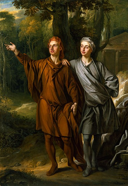 Anthony Ashley Cooper with his brother Maurice, in a 1702 painting by John Closterman designed to illustrate his Neo-Platonist beliefs