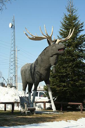 Dryden, Ontario - Max the Moose in Dryden