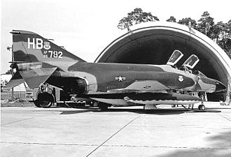 """7th Fighter Squadron - 7th Tactical Fighter Squadron F-4D Phantom at Spangdahlem AB during an annual """"Crested Cap"""" deployment"""
