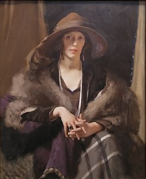 William Beckwith McInnes - McInnes's Portrait of Miss Collins won the 1924 Archibald Prize