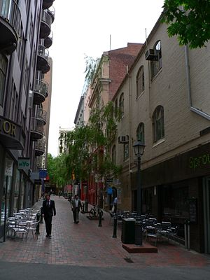 McKillop Street, Melbourne - McKillop Street looking north from Little Collins