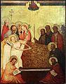 Medio reno o westfalia, altare del medio reno, 1410 ca., recto 09 morte della vergine.jpg