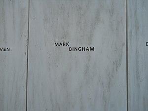 Mark Bingham - Bingham name on the Flight 93 National Memorial