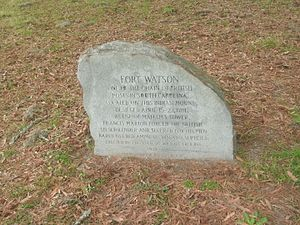 Clarendon County, South Carolina - Memorial stone at the site of Fort Watson