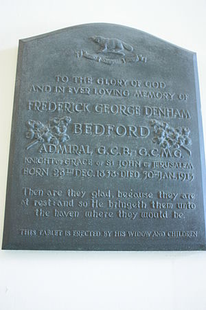 Frederick Bedford - Memorial to Frederick George Denham Bedord, Greenwich Hospital Chapel