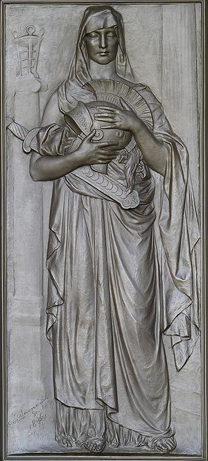 Memory - Olin Levi Warner, Memory (1896). Library of Congress Thomas Jefferson Building, Washington, D.C.
