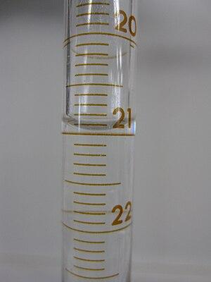 Burette - Image: Meniscus of water in burette