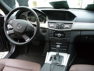Mercedes-Benz E-Class (W212) - Interior (pre-facelift).