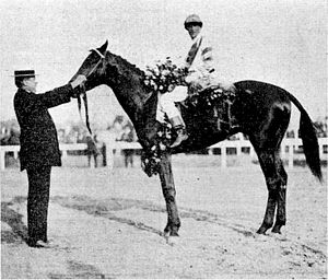 1911 Kentucky Derby - Meridian with R.F. Carman and jockey George Archibald at the 1911 Kentucky Derby.