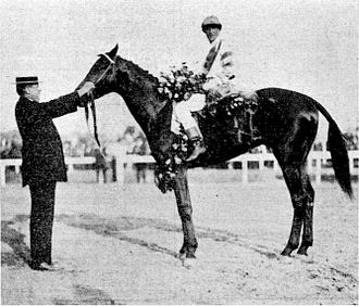 1911 Kentucky Derby - Meridian with R.F. Carman and jockey George Archibald at the 1911 Kentucky Derby