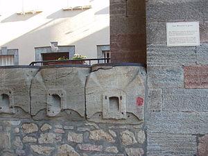 La Bastide-de-Sérou - The old Grain measures in the covered market