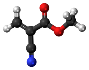 Methyl cyanoacrylate - Image: Methyl cyanoacrylate 3D ball