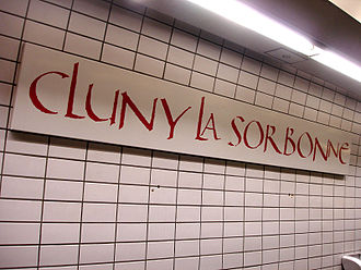 Cluny – La Sorbonne (Paris Métro) - Image: Metro de Paris Ligne 10 Cluny La Sorbonne 04