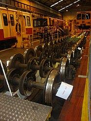 Metrocar axles, Tyne and Wear Metro depot open day, 8 August 2010 (2).jpg