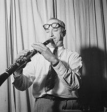Mezz Mezzrow in his office, New York, N.Y., ca. Nov. 1946 (William P. Gottlieb 06151).jpg