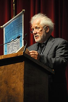 Ondaatje speaking at Tulane University, 2010