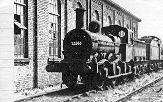 Midland Railway 700 Class - 22863  at Bournville Shed, 1947