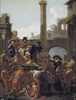 Bamboccianti followers of Pieter van Laer and other Bentvueghels in Rome