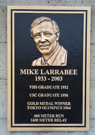 Ventura High School - Mike Larrabee plaque at Ventura High School