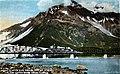 Miles Glacier and bridge and Mount O'Neal from the Copper River Road, Alaska, circa 1913 (AL+CA 1267).jpg