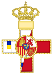 Military Merit Grand Crosses and Crosses (Spain) - Template.svg