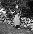 Milka Ivančič iz Golca, v današnji nedeljski noši 1955.jpg